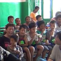 カンボジア プノンペンの孤児院で 公演させて頂きました。 ①