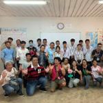 カンボジア プノンペン・日本語学校でのボランティアバルーンショー